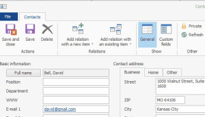 Contact synchronization in CRM for Microsoft Outlook