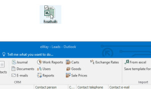 Leads import in CRM for Microsoft Outlook