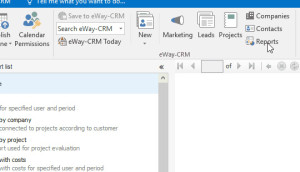 Reports in CRM for Microsoft Outlook